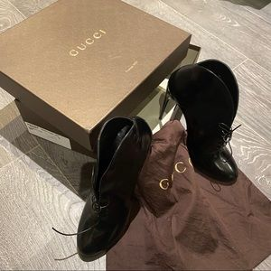 Authorities Gucci Leather lace up boots